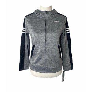 NWT Boys size medium adidas grey and black hoodie